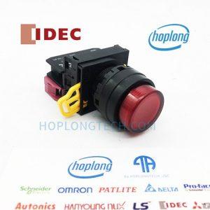 YW1L-M2E10Q4R IDEC nút nhấn có đèn loại lồi nhấn nhả – YW1L-M2E10Q4R